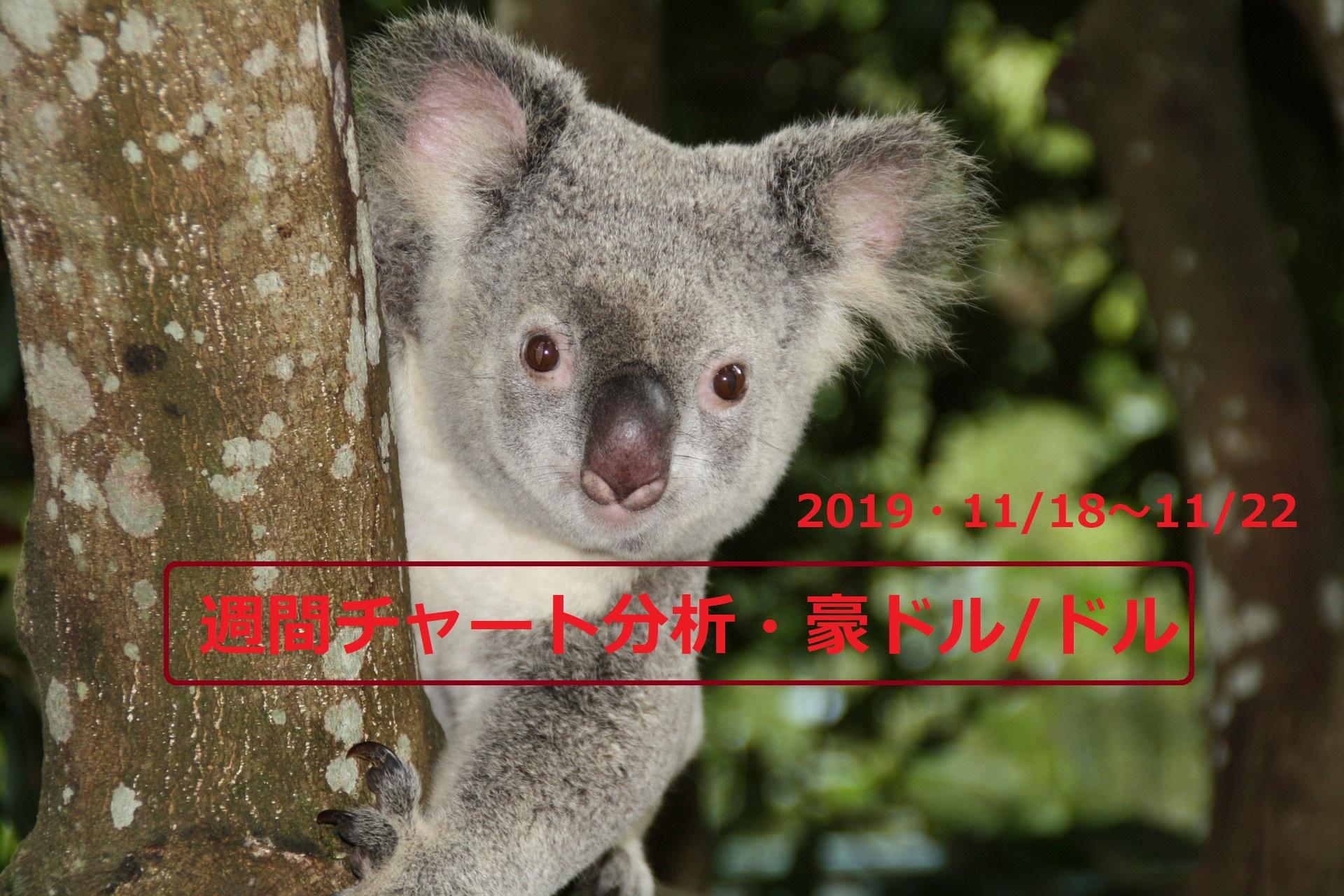 【FX】週間チャート分析・豪ドル/ドル【2019・11/18~11/22】