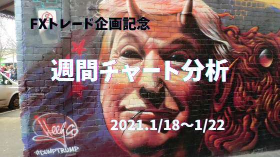 【FX】週間チャート分析ドル円・トレード企画記念【2021.1/18~1/22】